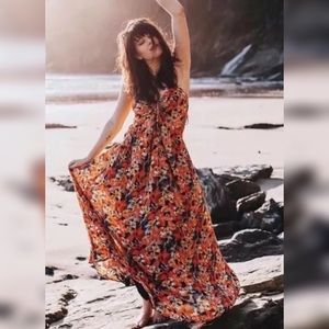 Free People 'Mulberry' Floral Keyhole Maxi Dress